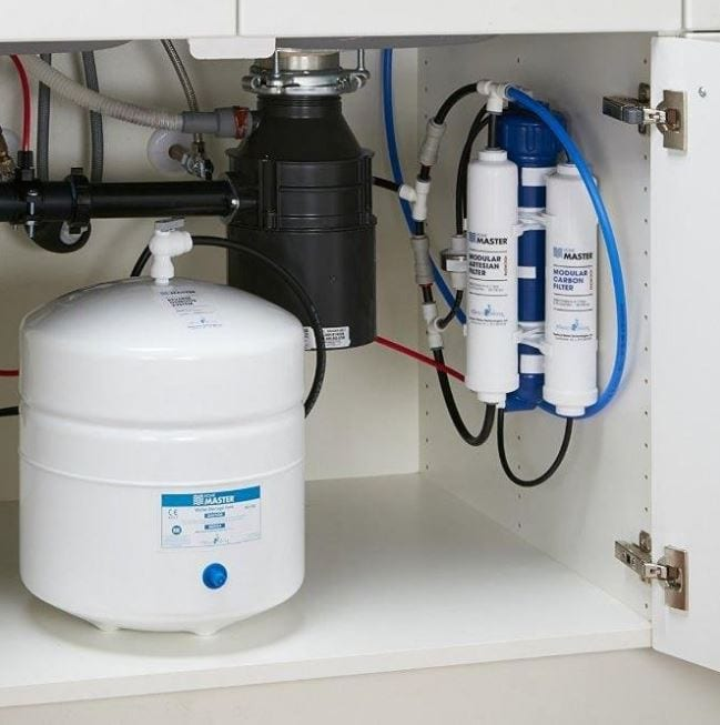 install reverse osmosis system under sink
